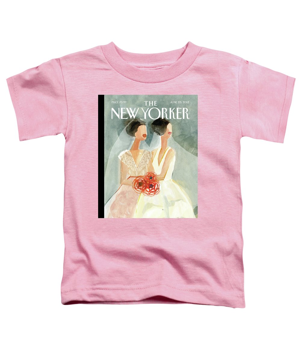 June Brides Toddler T-Shirt featuring the painting June Brides by Gayle Kabaker
