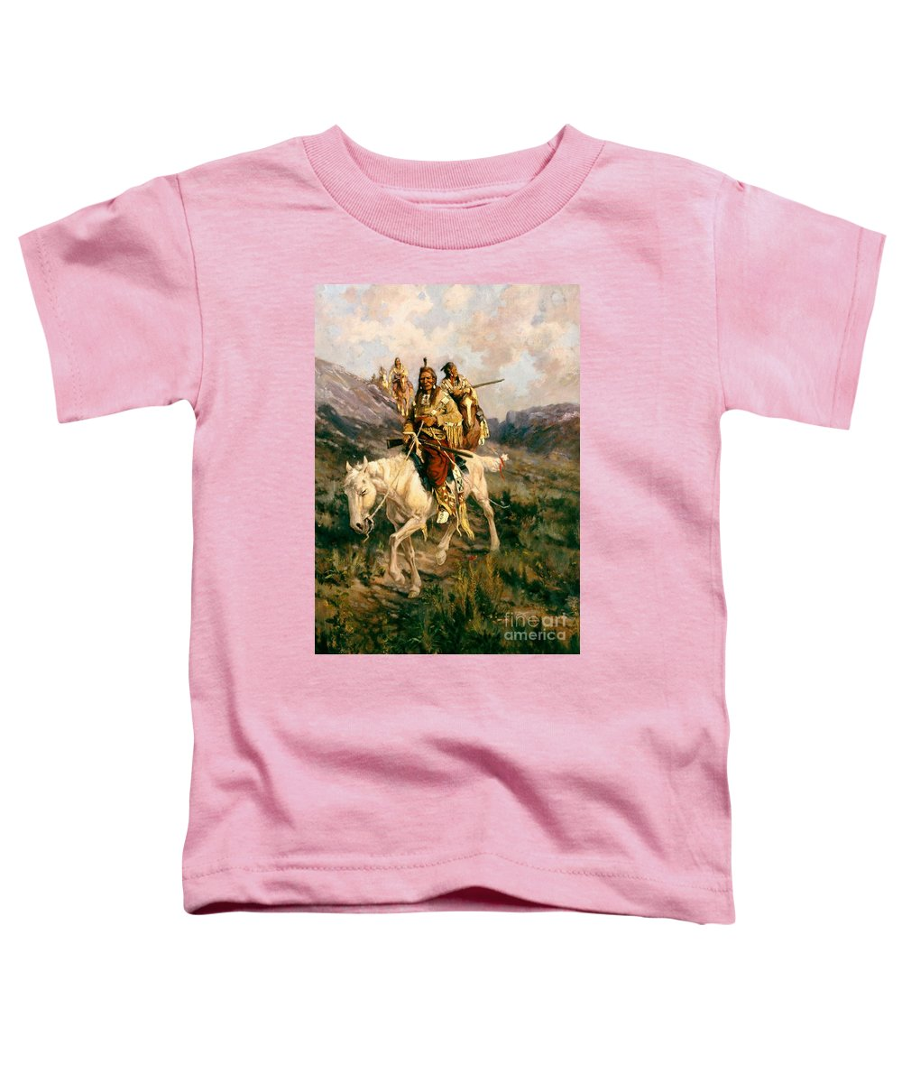 Visit To Another Tribe Toddler T-Shirt featuring the painting Visit To Another Tribe by Edgar Samuel Paxson