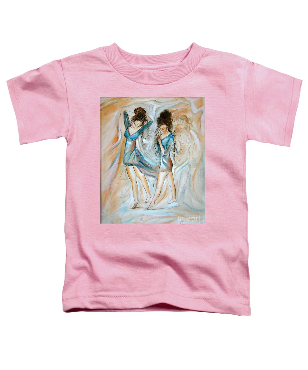 Contemporary Art Toddler T-Shirt featuring the painting Wondering by Silvana Abel