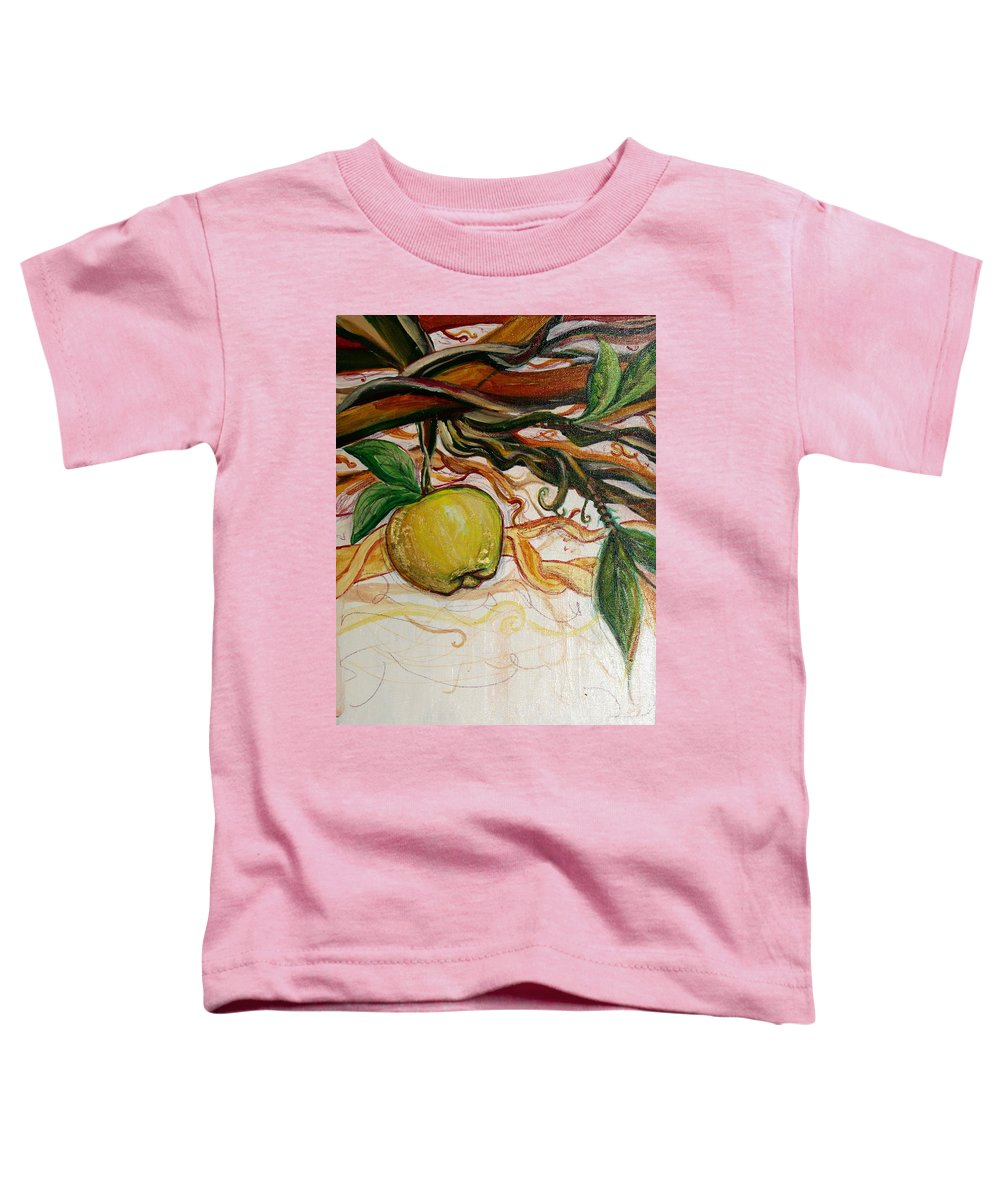 Apple Toddler T-Shirt featuring the painting Fifth World Five by Kate Fortin