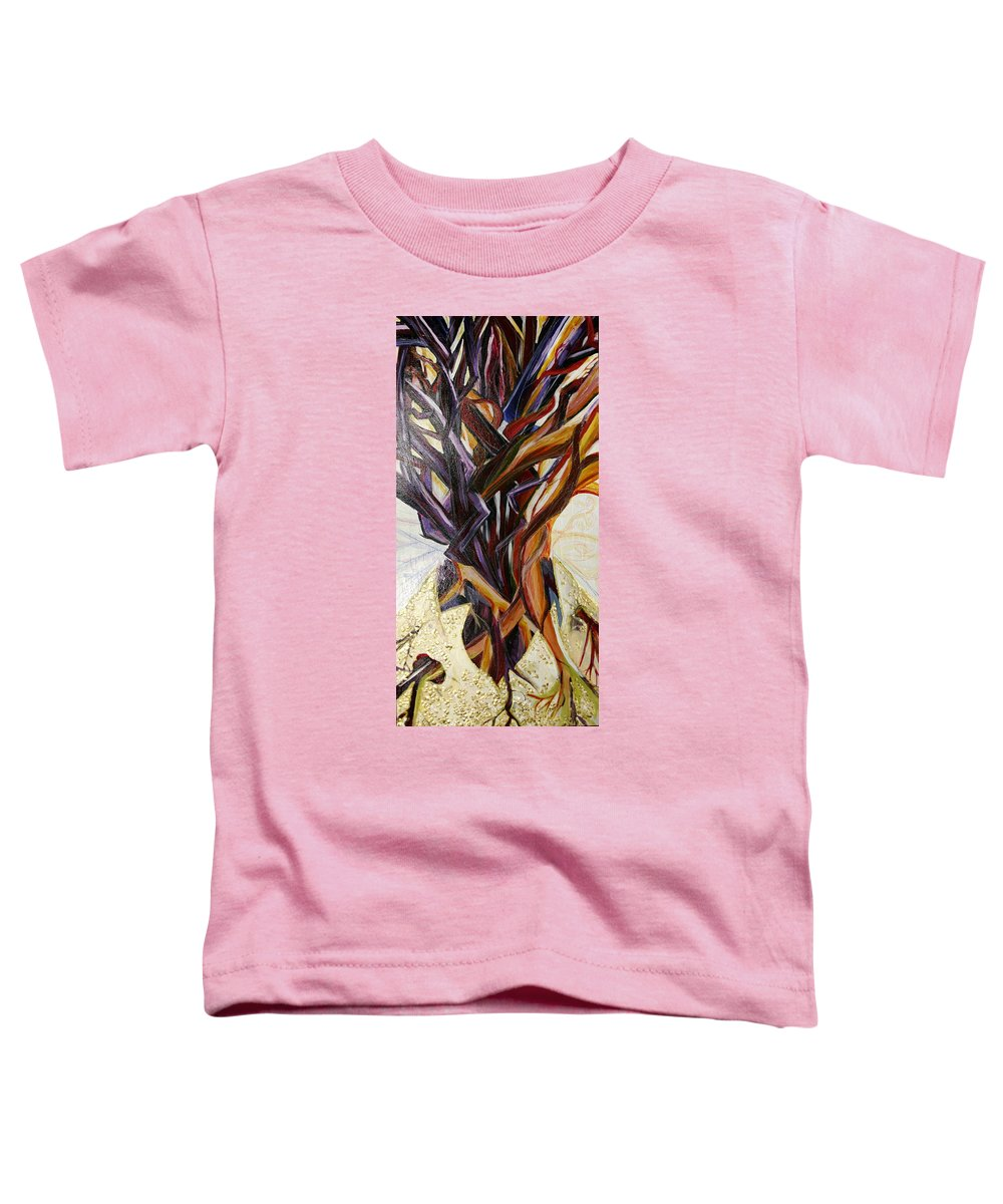 Apple Toddler T-Shirt featuring the painting Fifth World Three by Kate Fortin