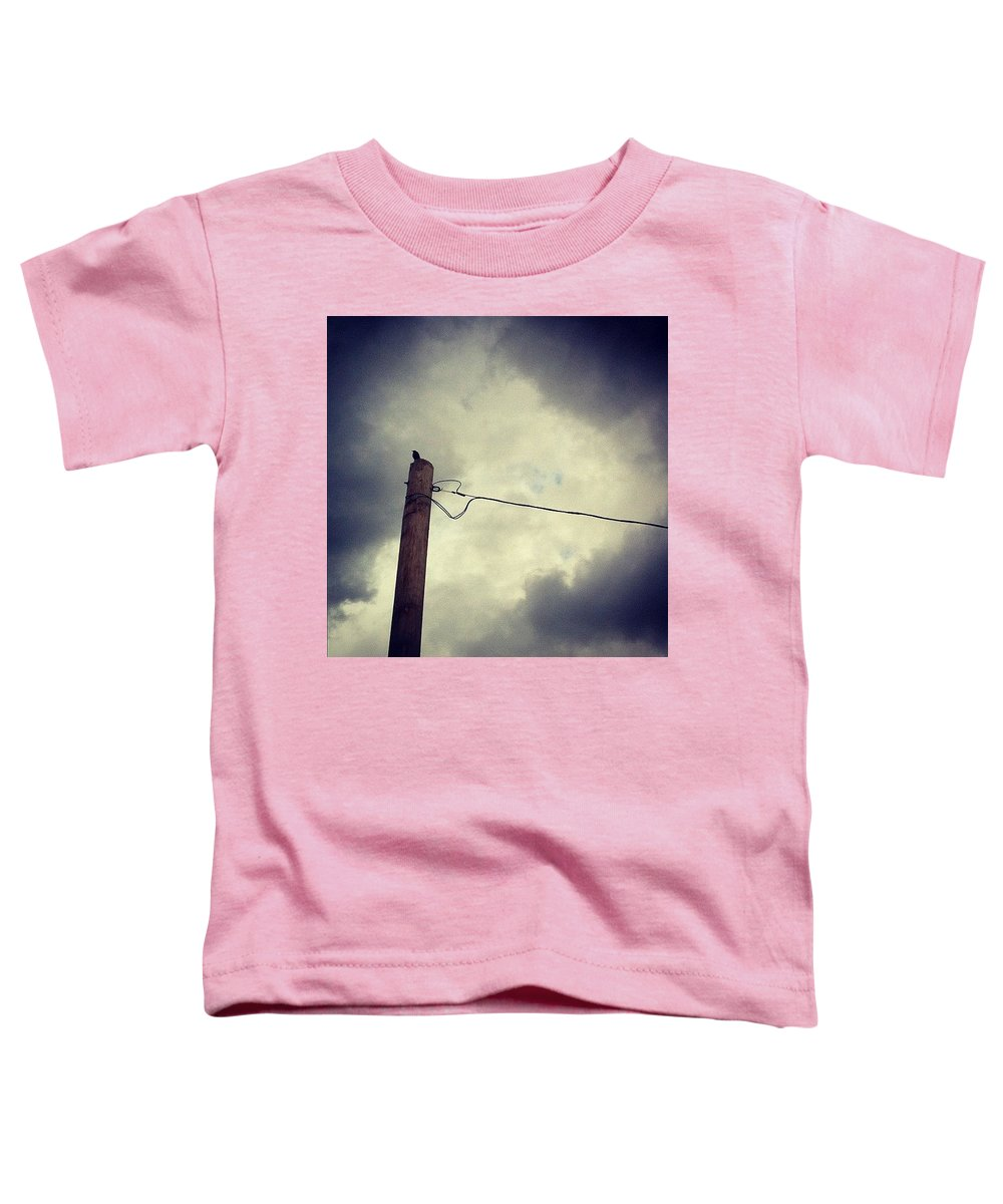 Storm Toddler T-Shirt featuring the photograph #storm Watcher by Katie Cupcakes