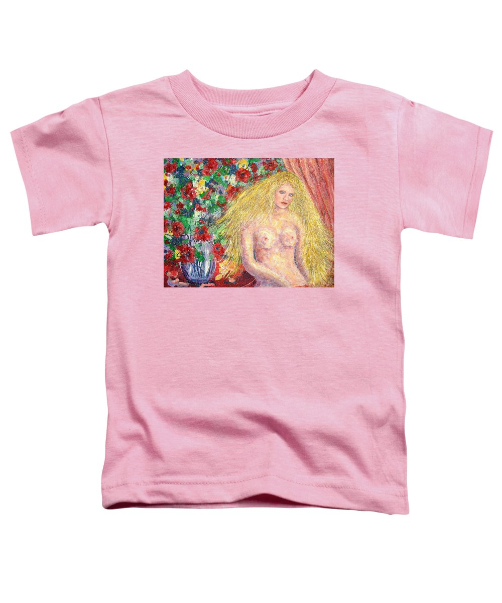 Nude Toddler T-Shirt featuring the painting Nude Fantasy by Natalie Holland