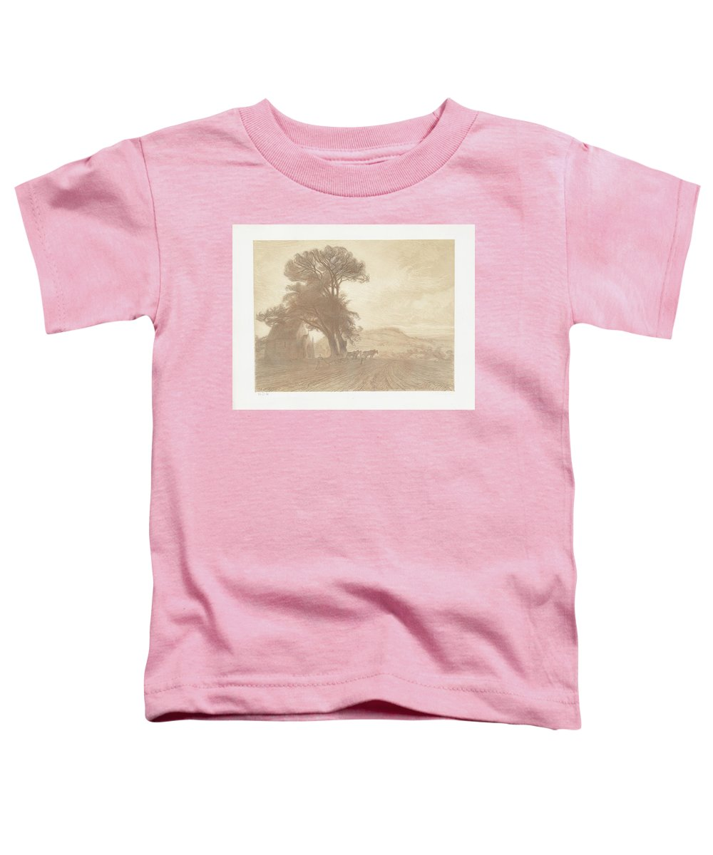 The Earth (la Terre (jesu Toddler T-Shirt featuring the painting Landscape by Celestial Images