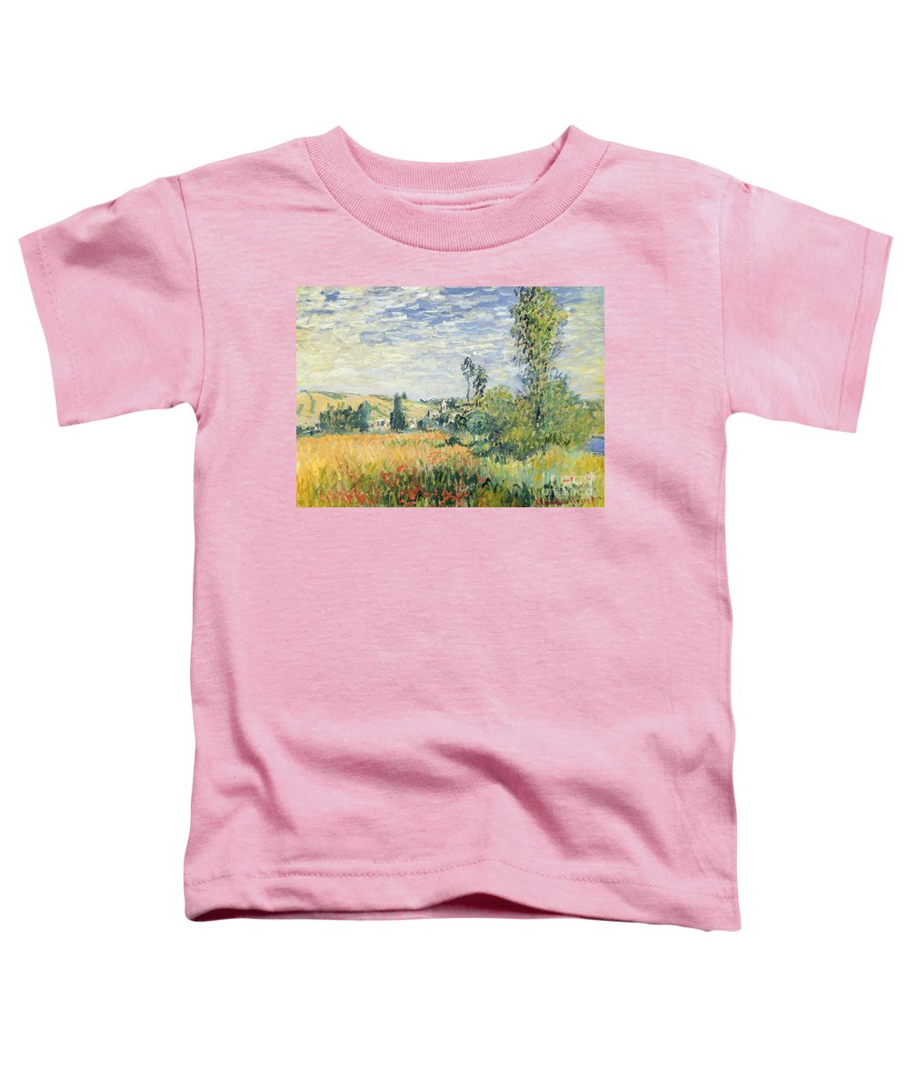 French Toddler T-Shirt featuring the painting Vetheuil by Claude Monet