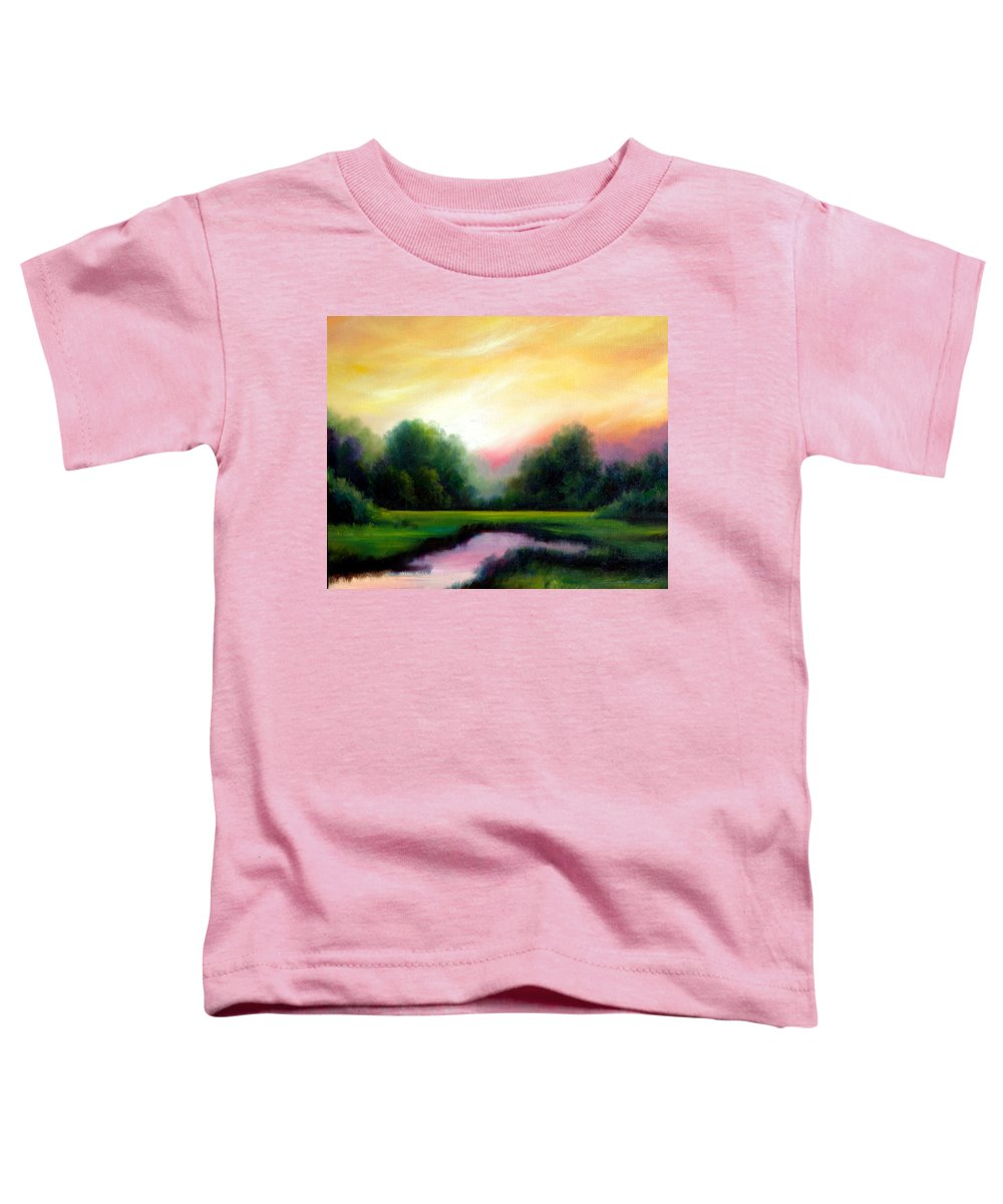 Clouds Toddler T-Shirt featuring the painting A Spring Evening by James Christopher Hill