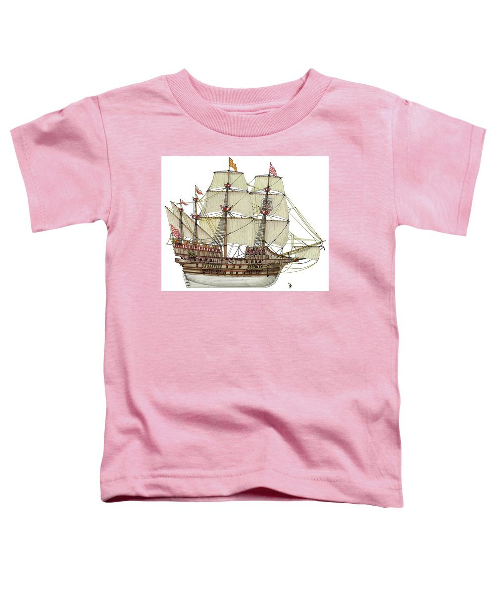 Adler Von Lubeck Toddler T-Shirt featuring the drawing Adler von Lubeck by The Collectioner