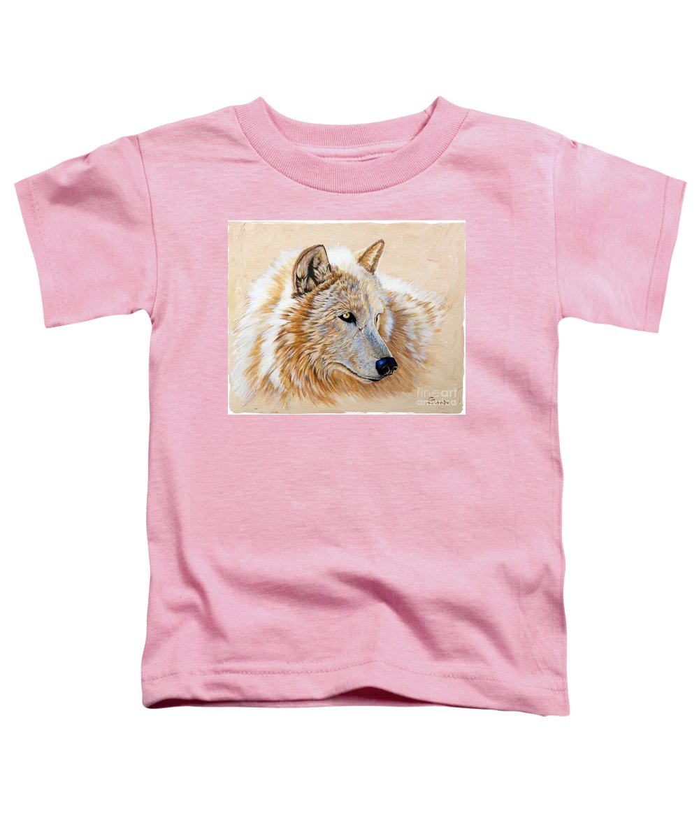 Acrylic Toddler T-Shirt featuring the painting Adobe White by Sandi Baker