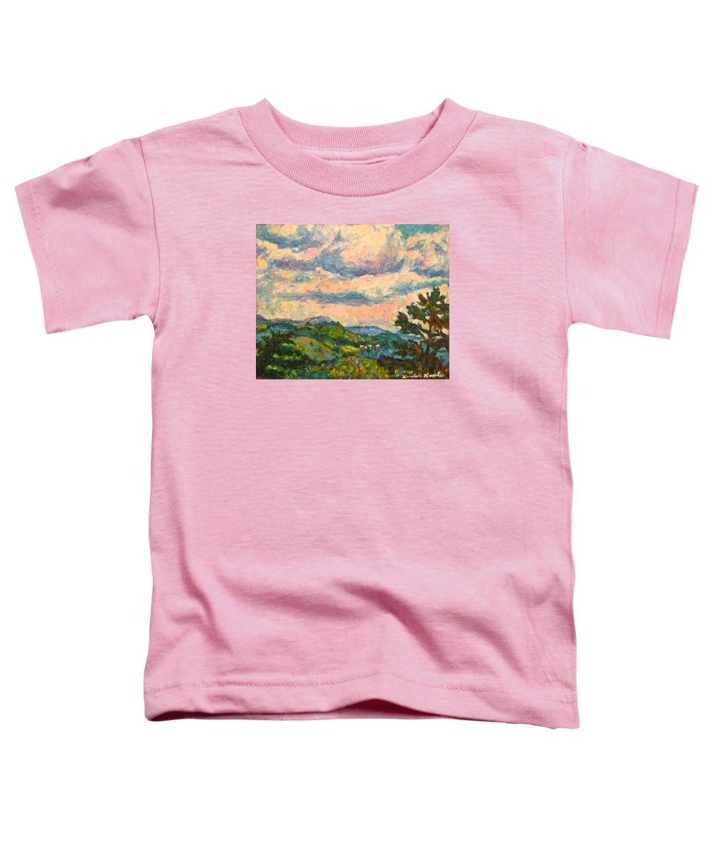 Landscape Paintings Toddler T-Shirt featuring the painting Another Rocky Knob by Kendall Kessler