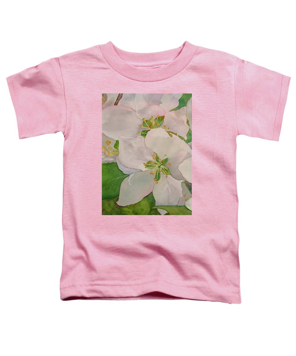 Apple Blossoms Toddler T-Shirt featuring the painting Apple Blossoms by Sharon E Allen
