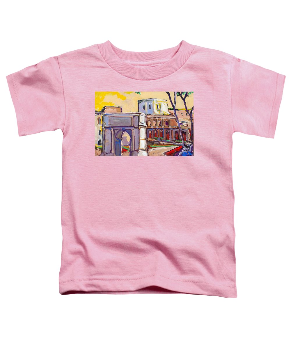 Rome Toddler T-Shirt featuring the painting Arco Di Romano by Kurt Hausmann
