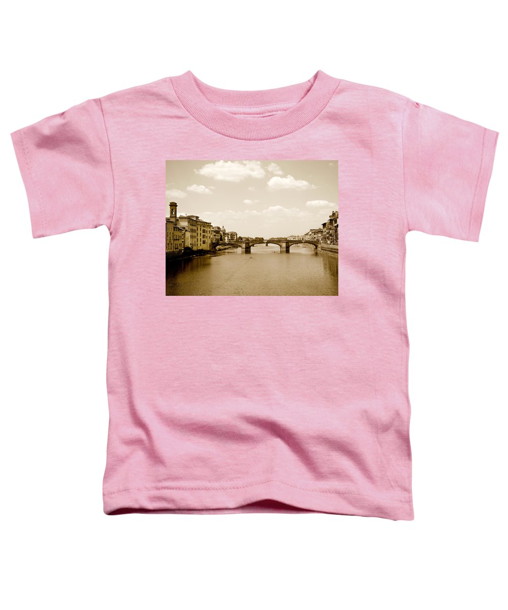 Italy Toddler T-Shirt featuring the photograph Arno River Florence by Marilyn Hunt