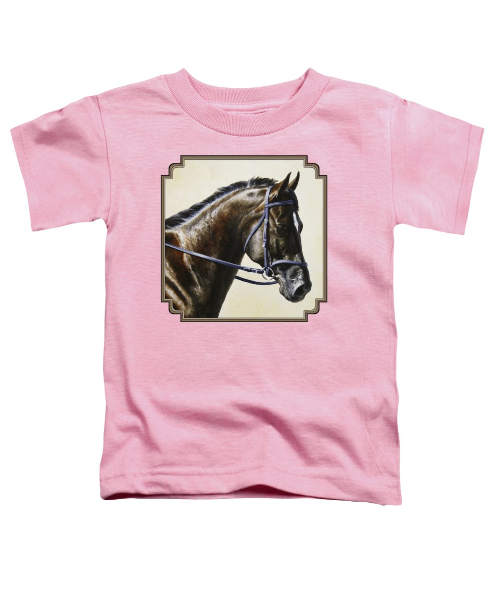 Horse Toddler T-Shirt featuring the painting Dressage Horse - Concentration by Crista Forest