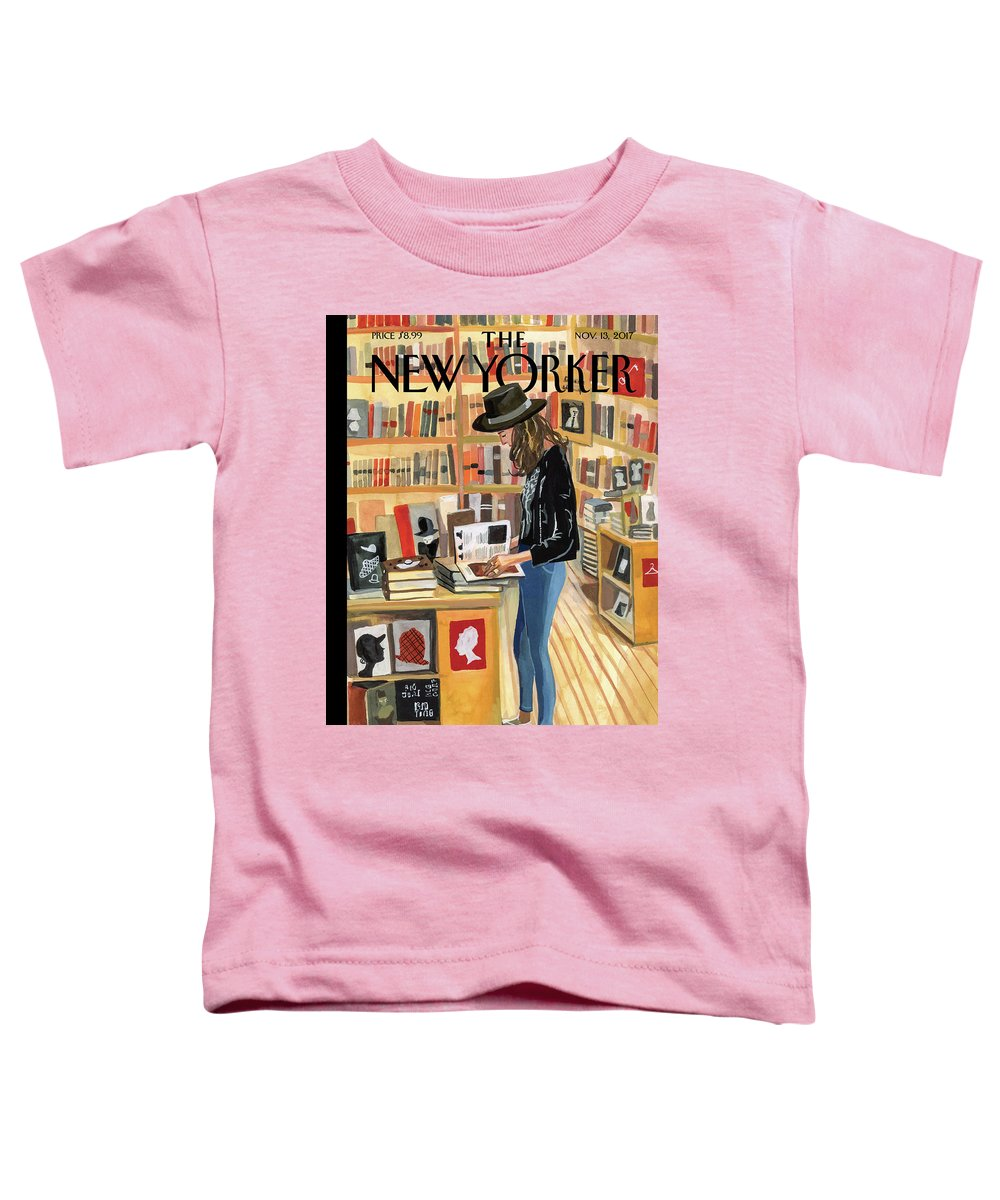 At The Strand Toddler T-Shirt featuring the painting At The Strand by Jenny Kroik