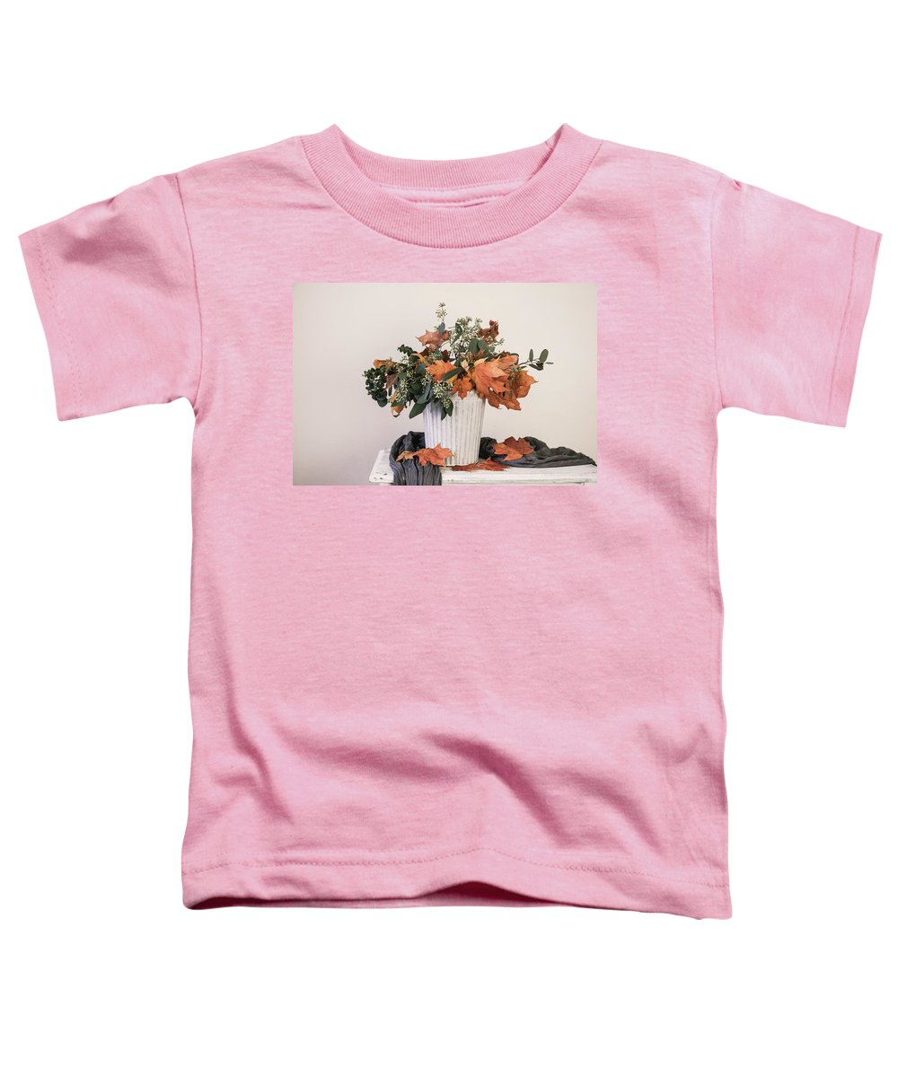 Leave Toddler T-Shirt featuring the photograph Autumn Arrangement by Kim Hojnacki