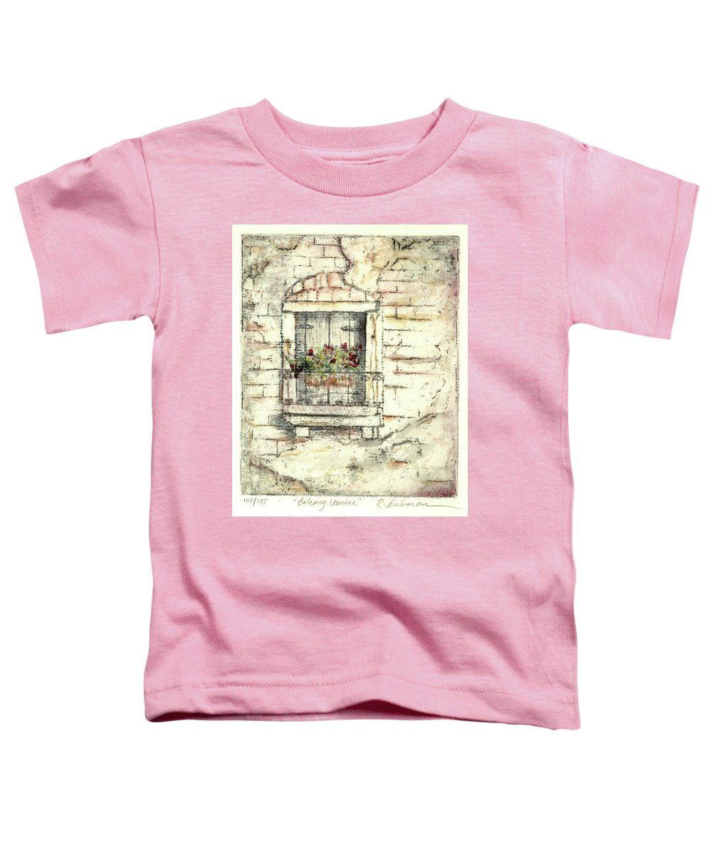 Venice Toddler T-Shirt featuring the painting Balcony Venice by Richard Bulman