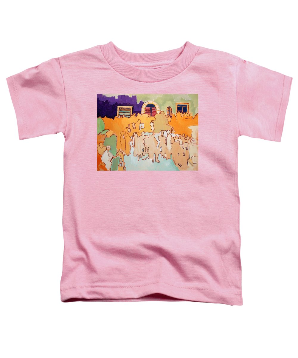 Band Toddler T-Shirt featuring the painting Banda Di Villaggio by Kurt Hausmann