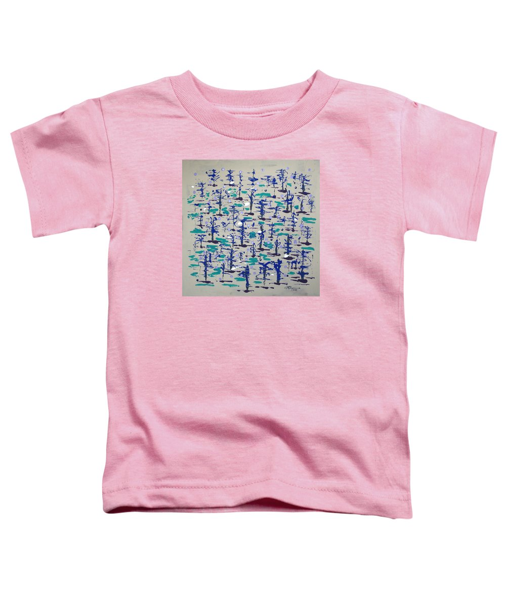 Abstract Toddler T-Shirt featuring the painting Bare Trees by J R Seymour