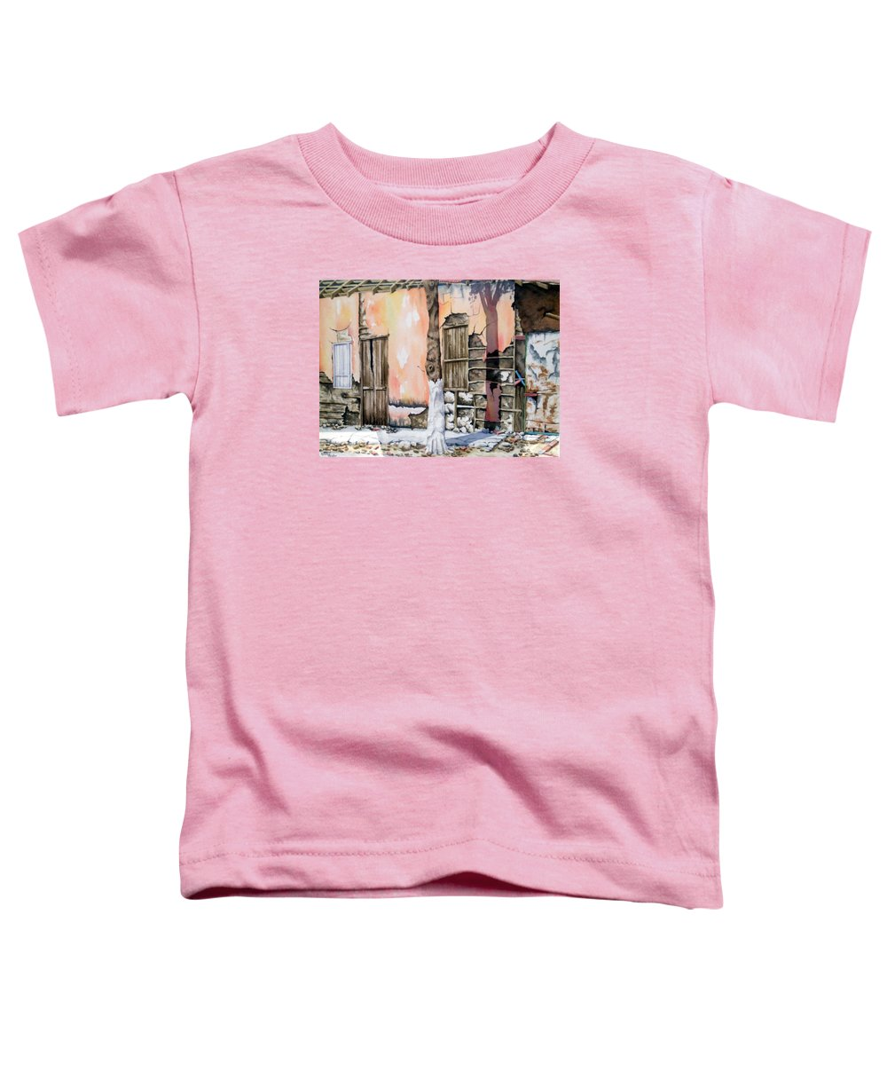 Lanscape Toddler T-Shirt featuring the painting Bareque II by Tatiana Escobar