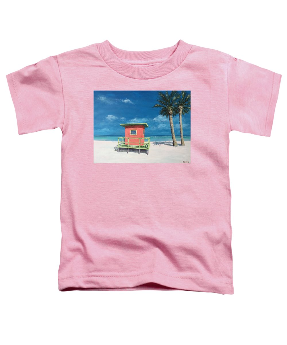 Beach Toddler T-Shirt featuring the painting Beach Solitude by Paul Emig