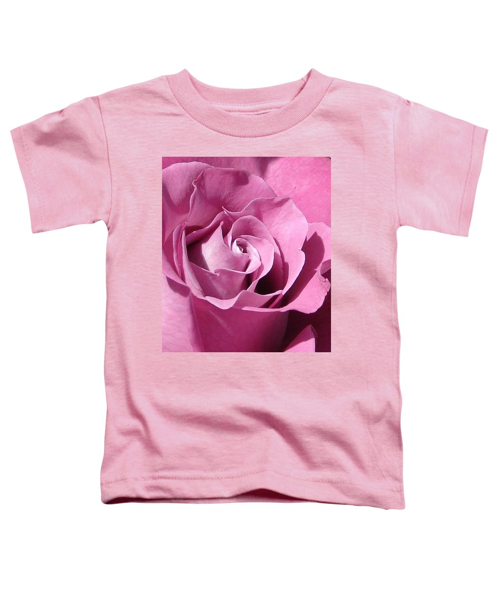 Rose Pink Toddler T-Shirt featuring the photograph Big Pink by Luciana Seymour