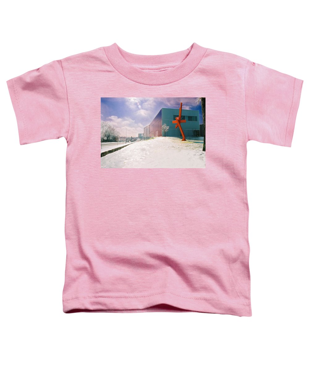 Landscape Toddler T-Shirt featuring the photograph Bloch Building At The Nelson Atkins Museum by Steve Karol