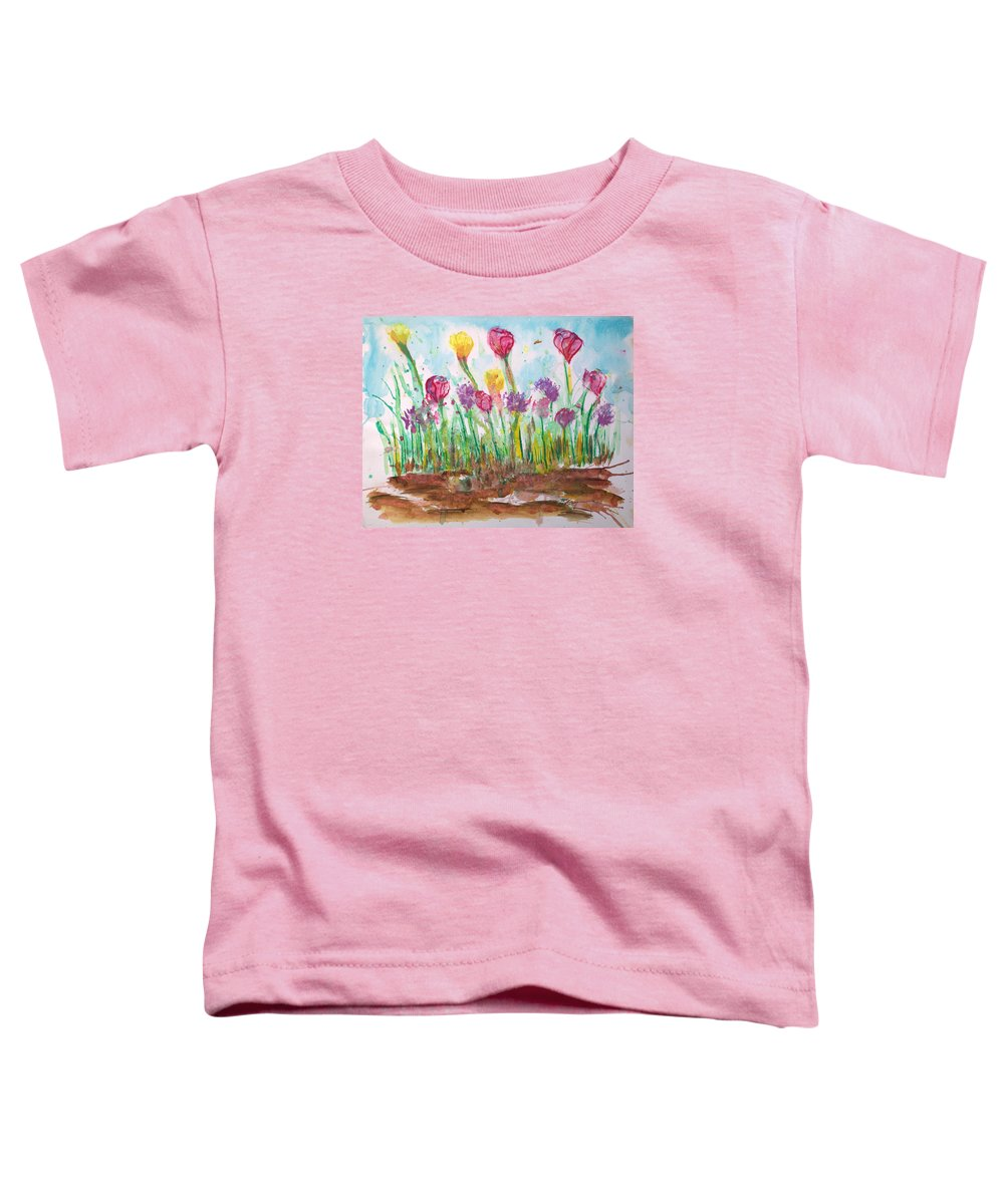 Flowers Toddler T-Shirt featuring the painting Blooming Colors by J R Seymour