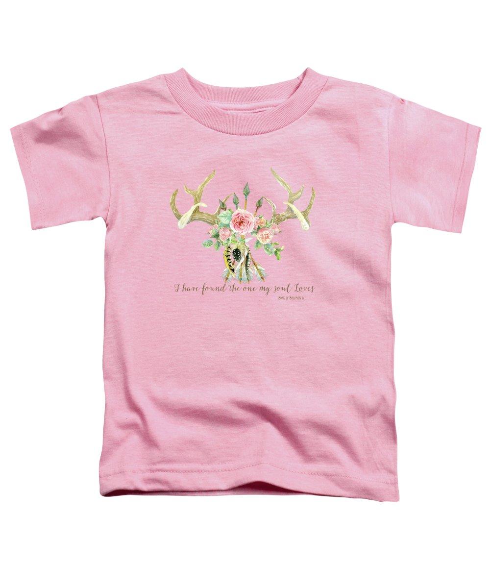 Floral Image Toddler T-Shirts