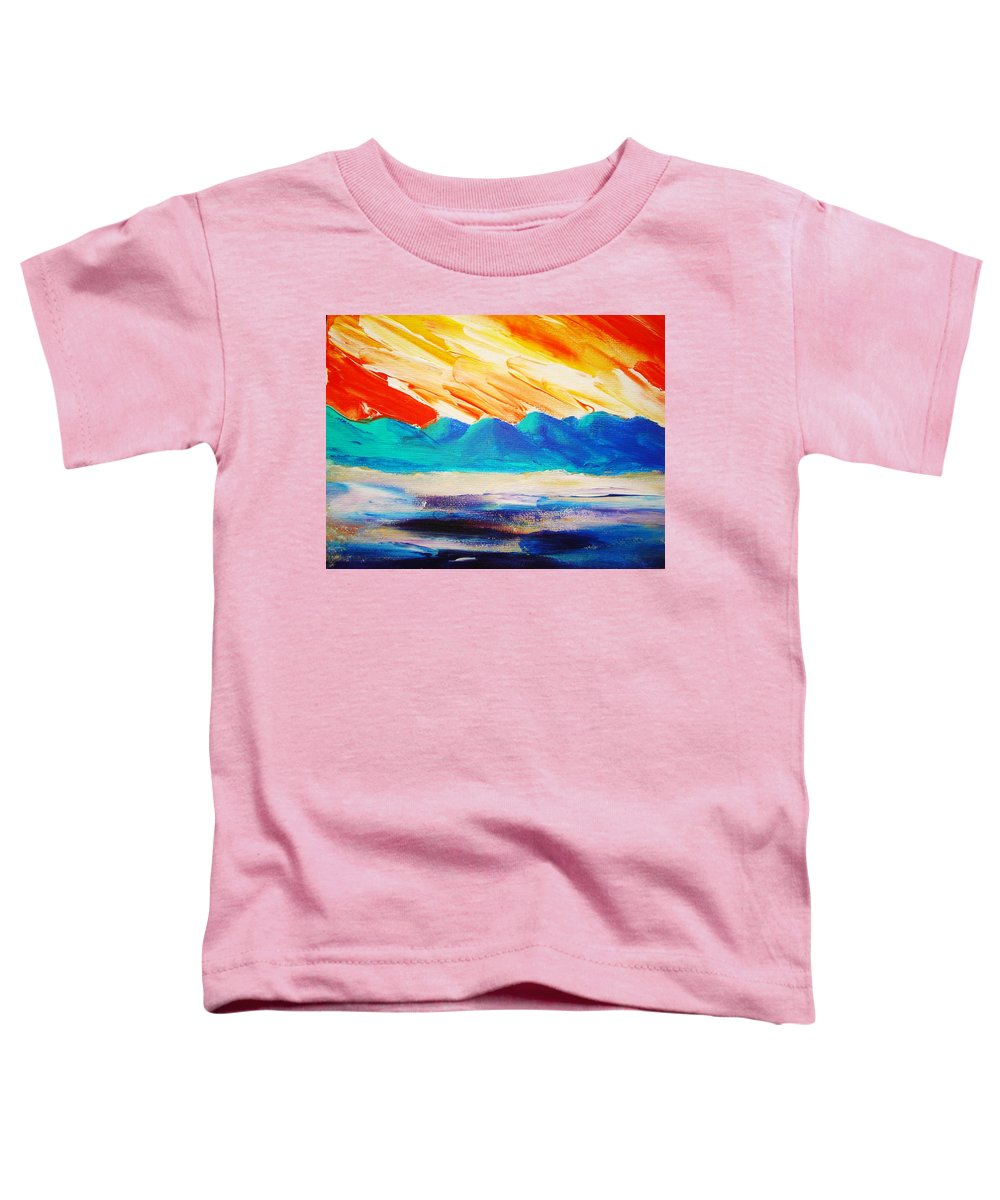 Bright Toddler T-Shirt featuring the painting Bold Day by Melinda Etzold