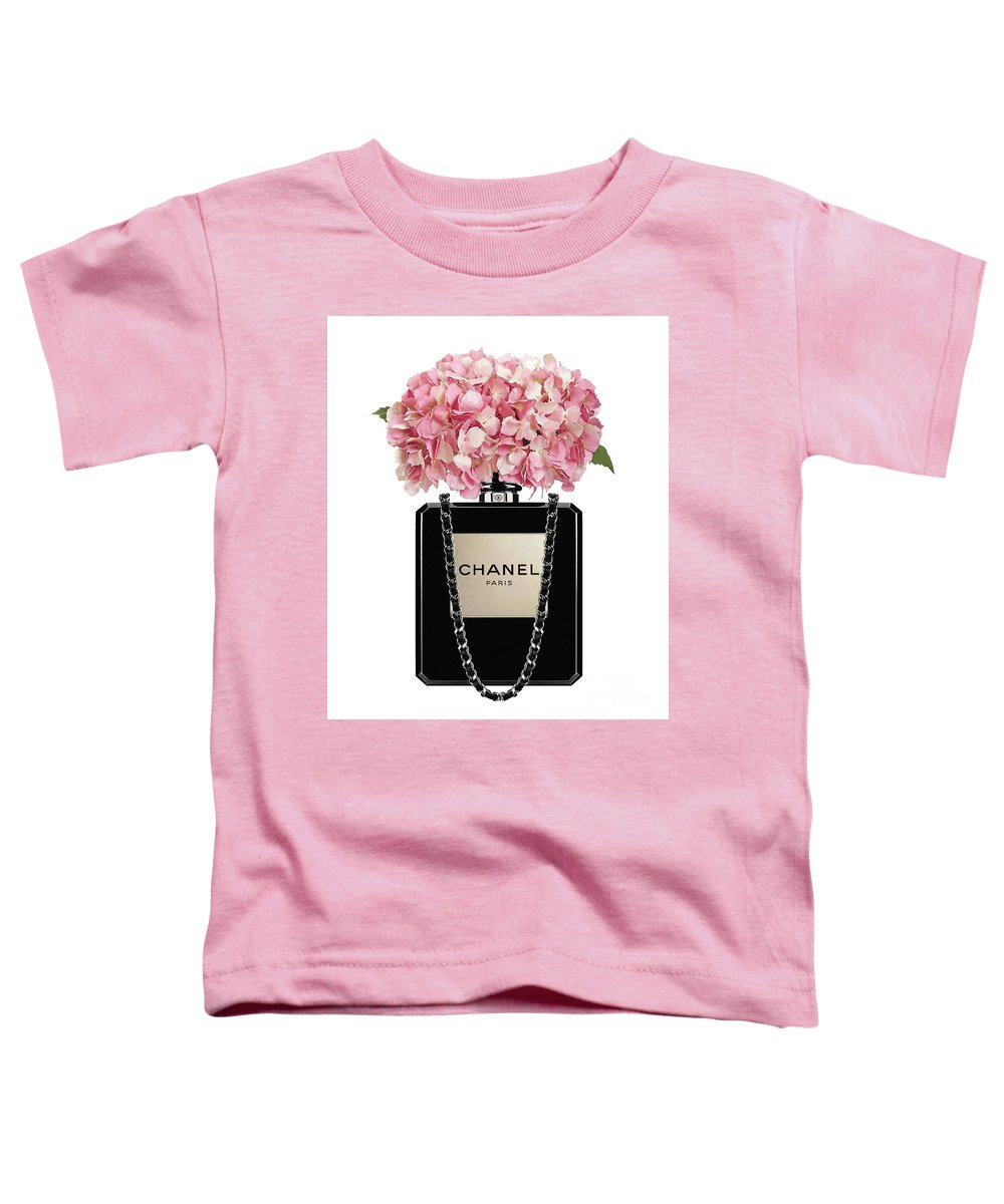 238a2378c219d4 Chanel Perfume Bag With Pink Hydrangea 2 Toddler T-Shirt for Sale by Del Art
