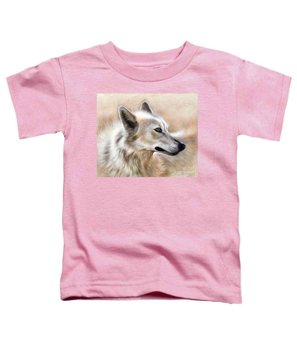 Acrylic Toddler T-Shirt featuring the painting Cheyenne by Sandi Baker