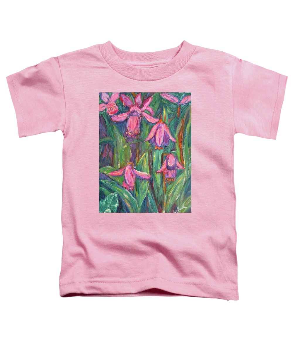 Floral Toddler T-Shirt featuring the painting Chinese Orchids by Kendall Kessler