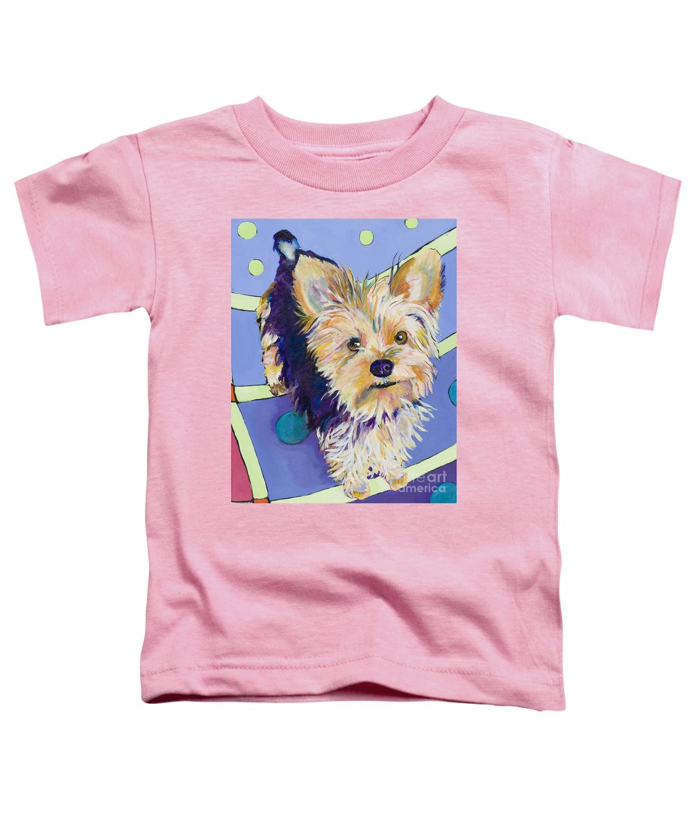 Pet Portraits Toddler T-Shirt featuring the painting Claire by Pat Saunders-White