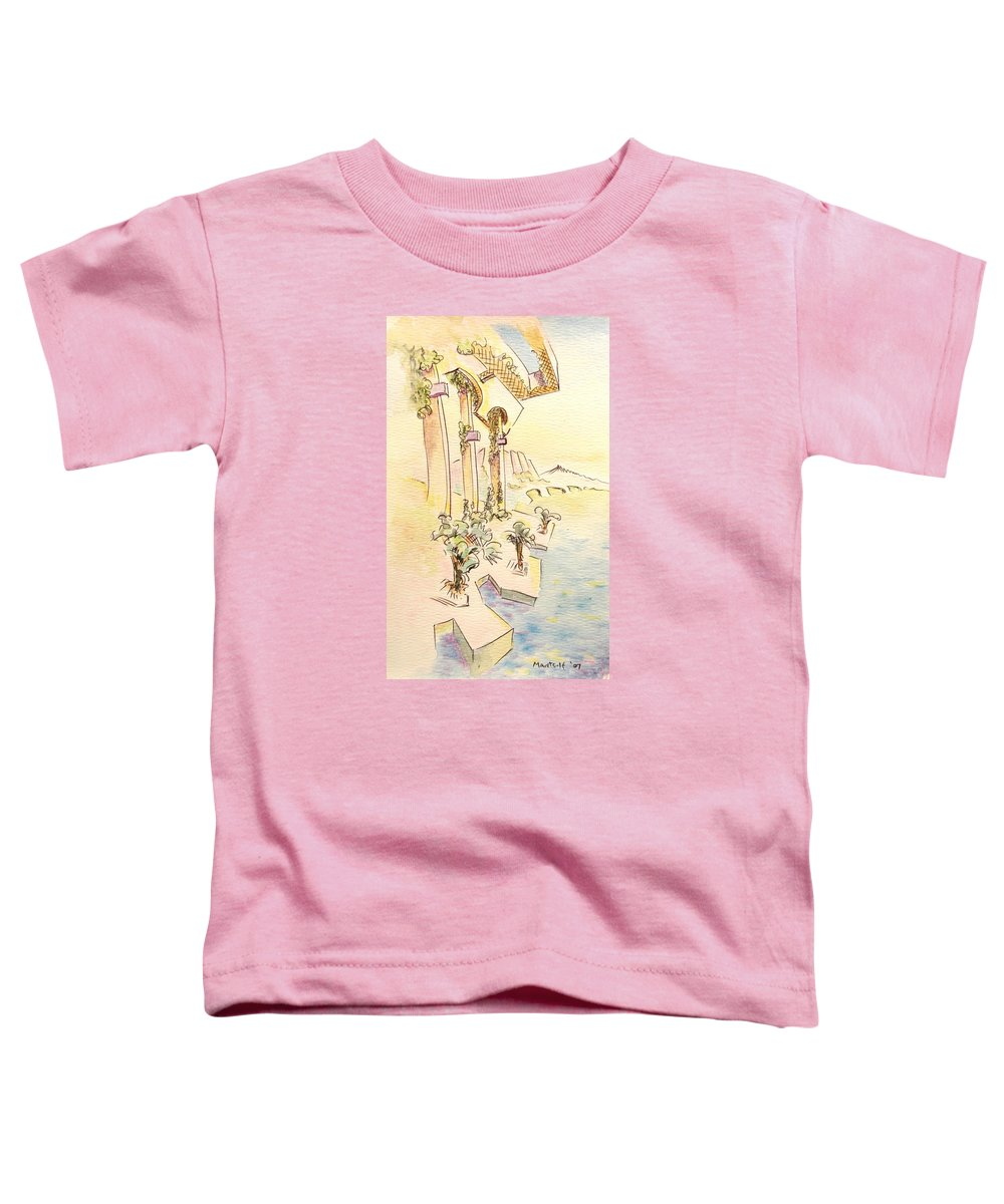Italian Toddler T-Shirt featuring the painting Classic Summer Morning by Dave Martsolf