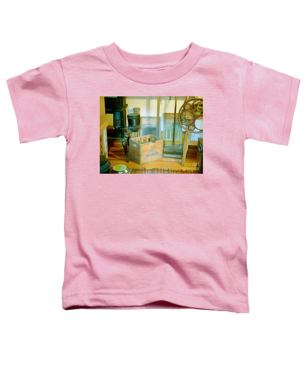 Kitchen Toddler T-Shirt featuring the painting Country Kitchen Sunshine II by RC deWinter