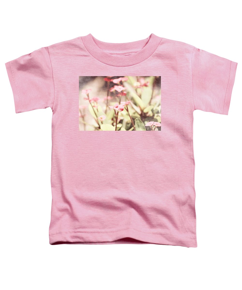 Prism Pink Toddler T-Shirt featuring the photograph Country Memories in Prism Pink by Colleen Cornelius
