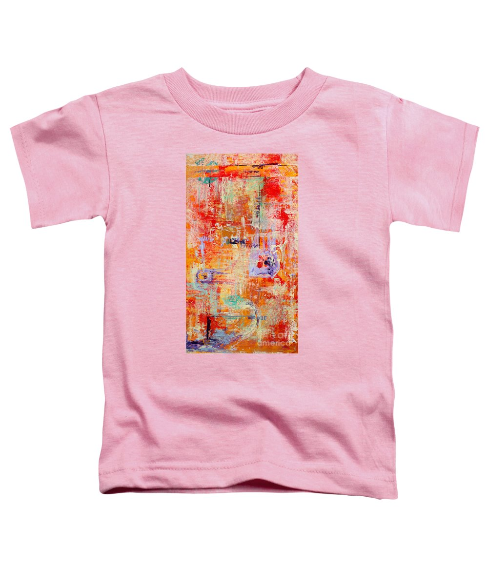Large Format Painting Toddler T-Shirt featuring the painting Crescendo by Pat Saunders-White