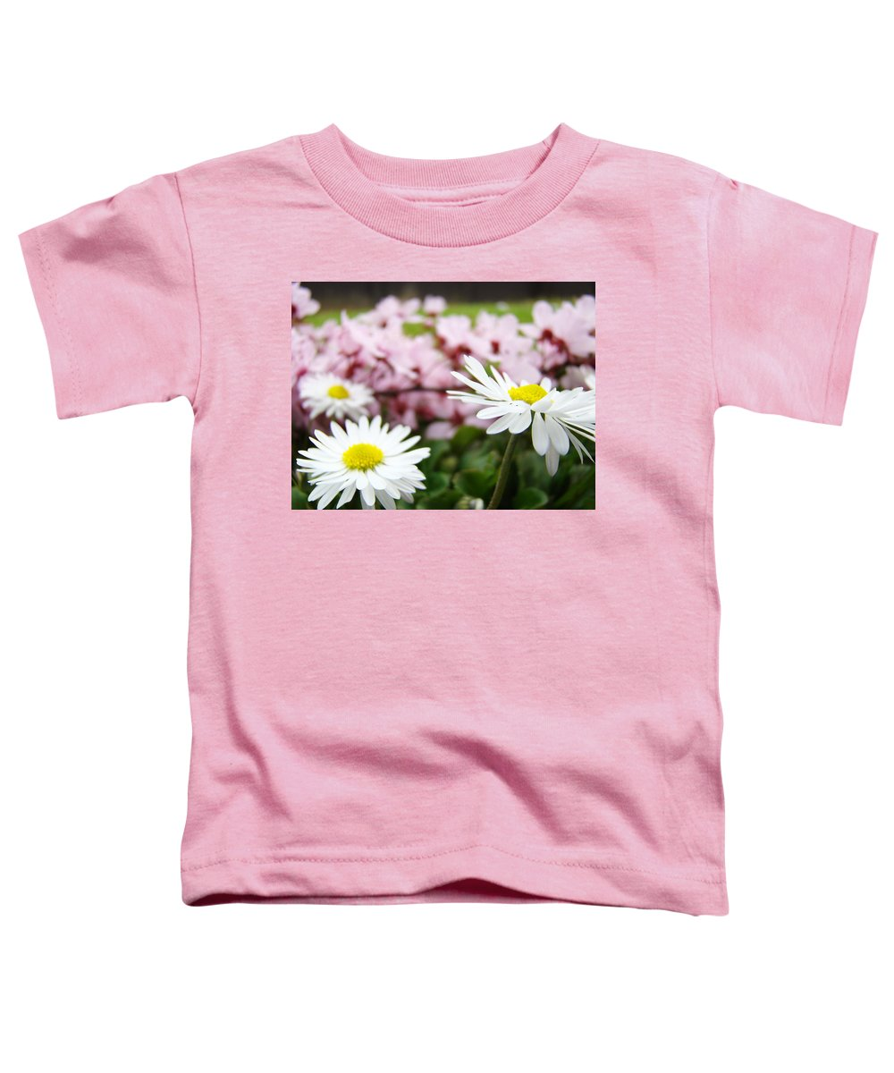 Daisies Toddler T-Shirt featuring the photograph Daisies Flowers Art Prints Spring Flowers Artwork Garden Nature Art by Baslee Troutman