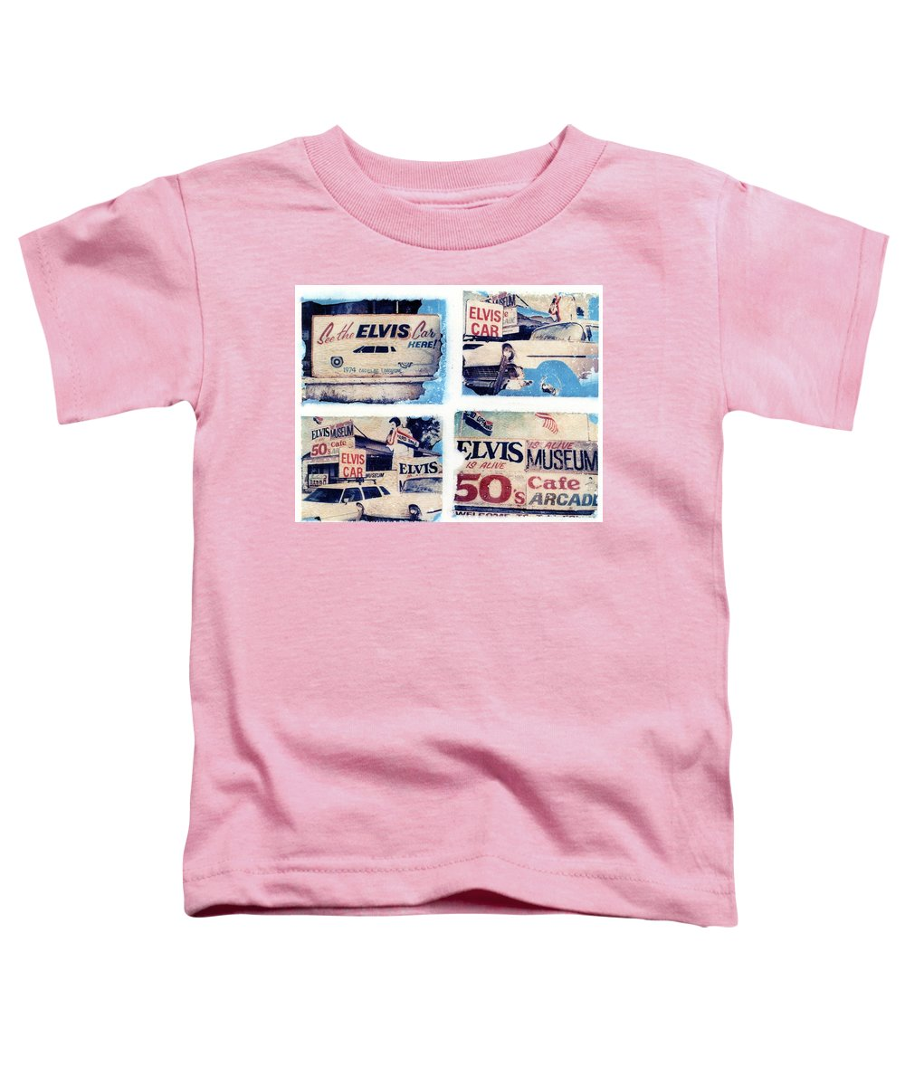 Elvis Toddler T-Shirt featuring the photograph Disgraceland by Jane Linders