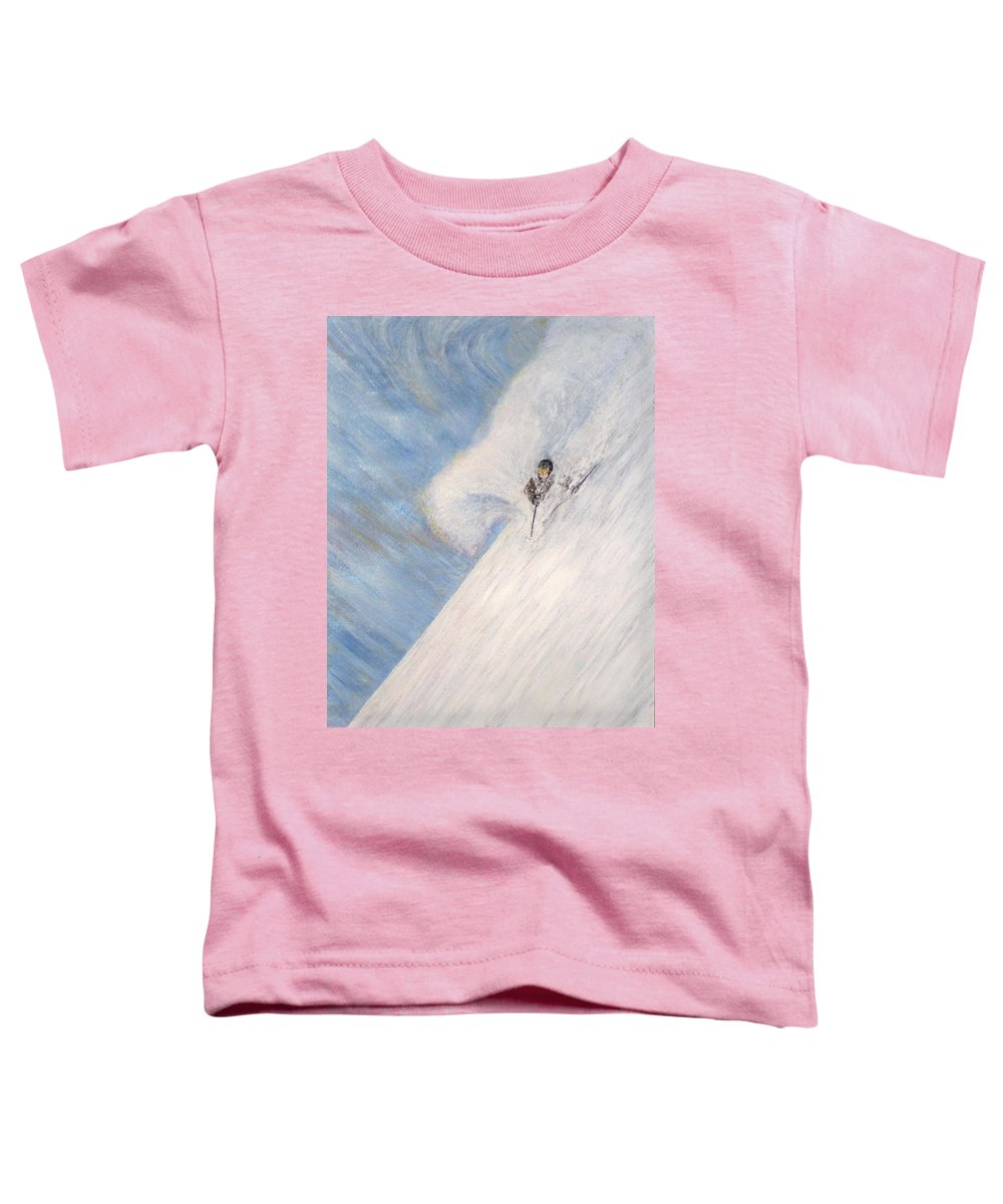Landscape Toddler T-Shirt featuring the painting Dreamsareal by Michael Cuozzo