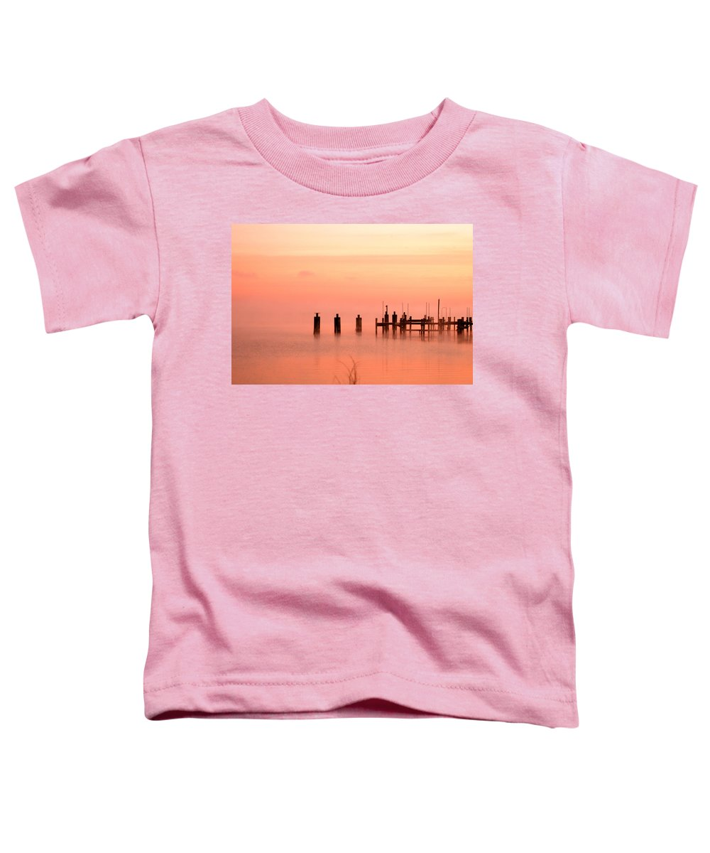 Clay Toddler T-Shirt featuring the photograph Eery Morn by Clayton Bruster