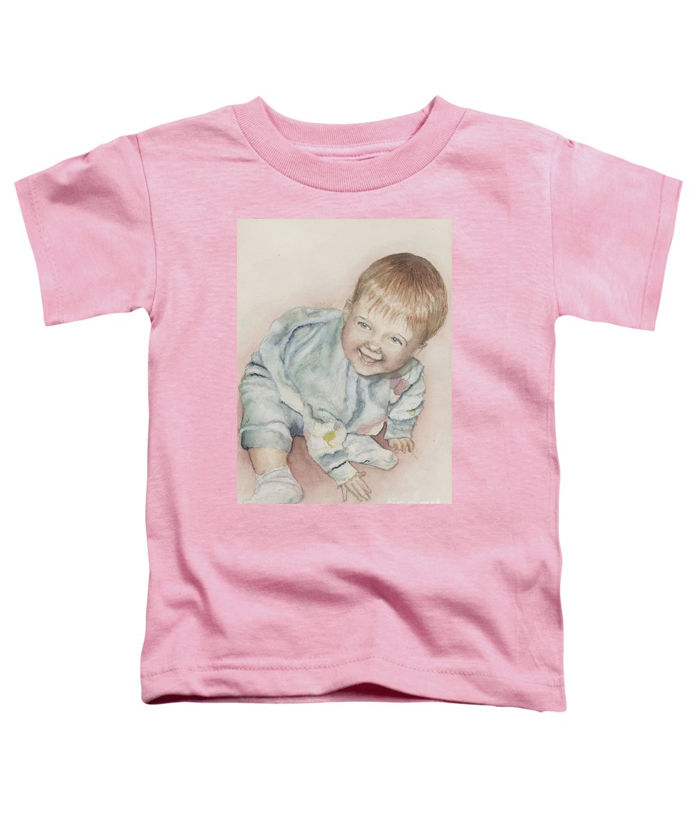 Girl Toddler T-Shirt featuring the painting Elise by Nadine Rippelmeyer