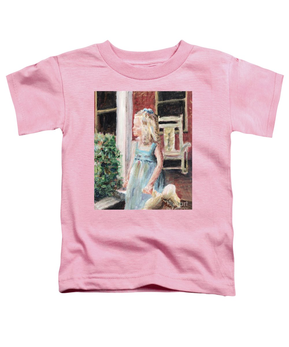 Girl Toddler T-Shirt featuring the painting Elizabeth Anne by Nadine Rippelmeyer