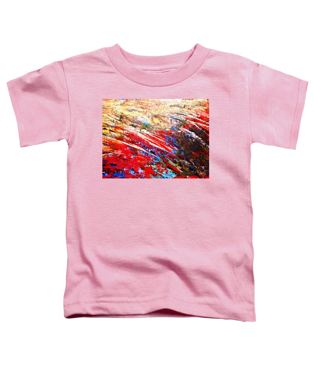 Expressionism Toddler T-Shirt featuring the painting Emotional Explosion by Natalie Holland