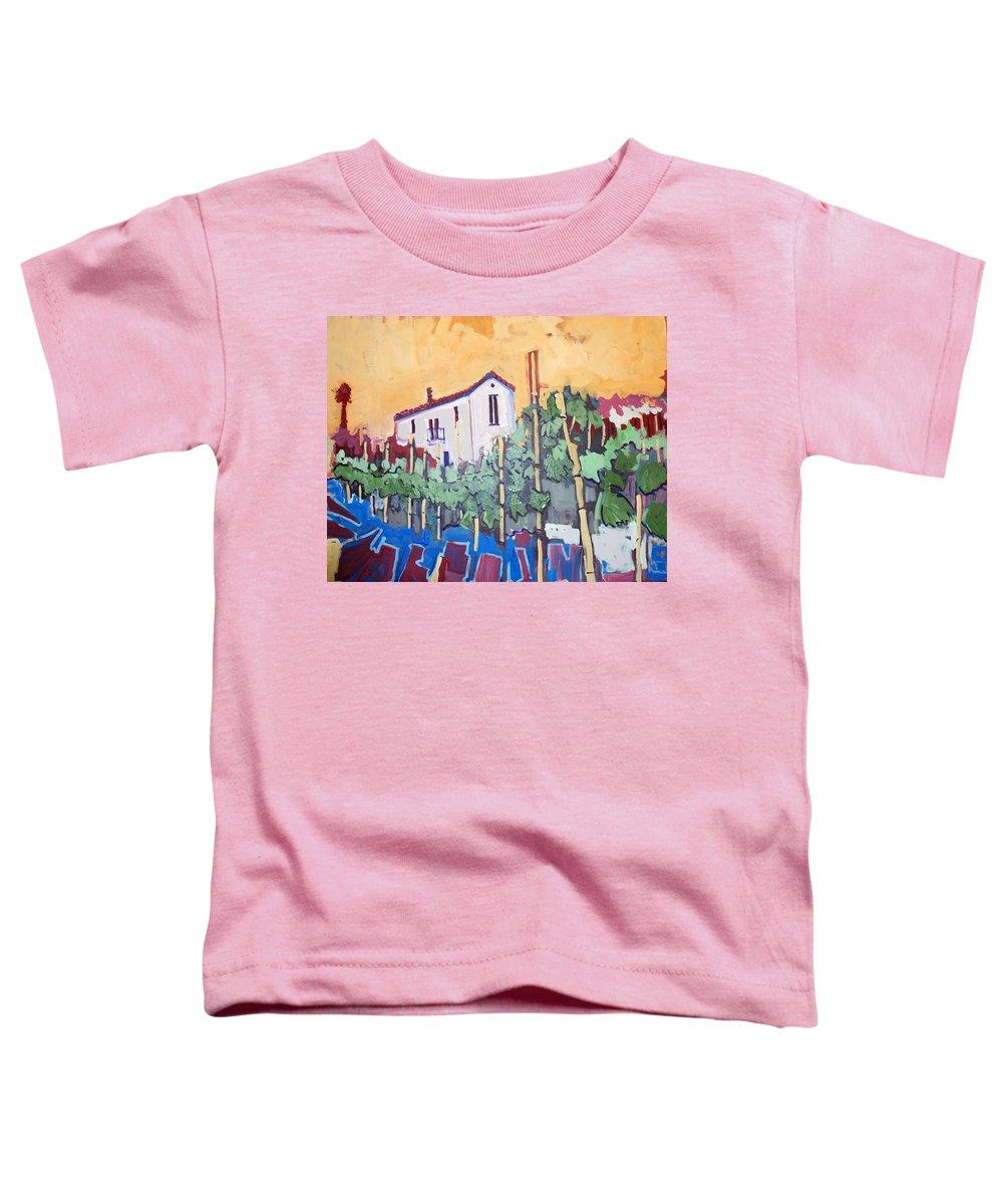 Farm House Toddler T-Shirt featuring the painting Farm House by Kurt Hausmann