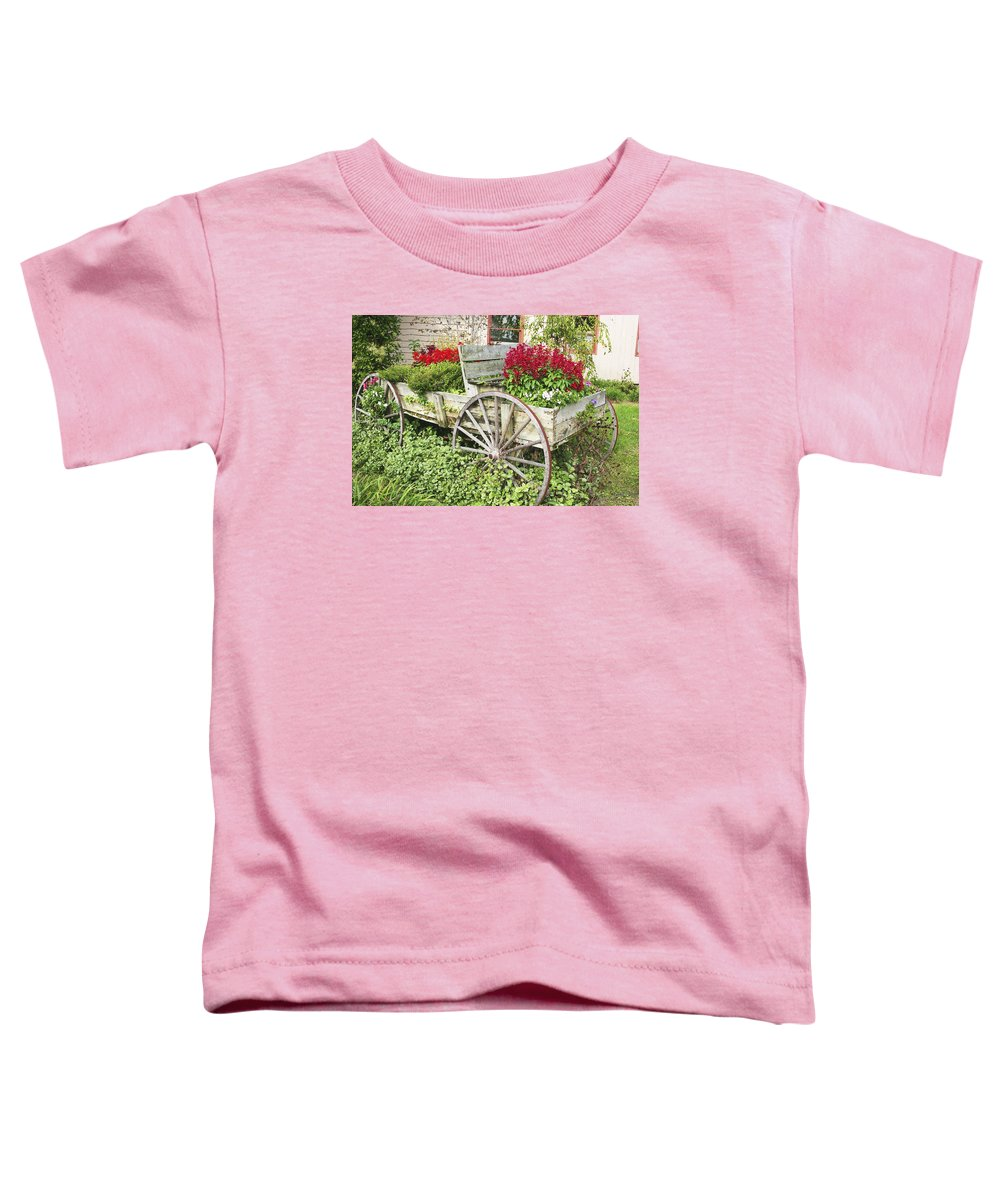 Wagon Toddler T-Shirt featuring the photograph Flower Wagon by Margie Wildblood