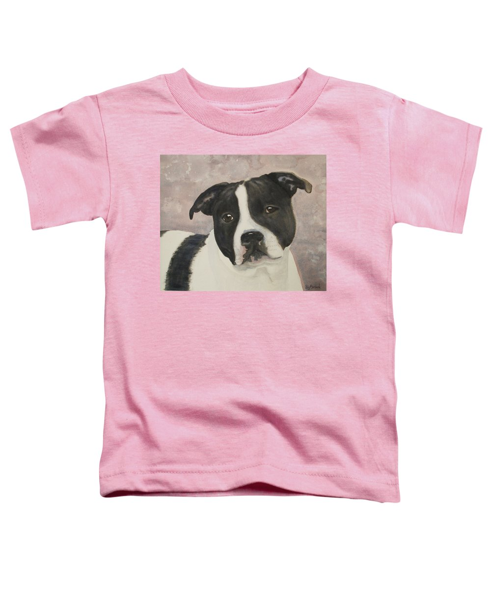 Dog Toddler T-Shirt featuring the painting For Me by Ally Benbrook