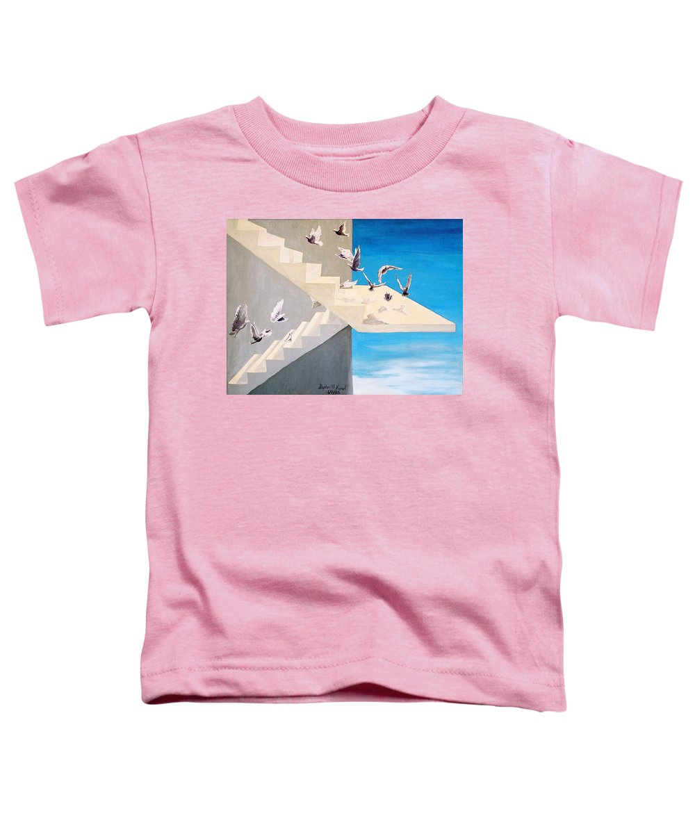 Birds Toddler T-Shirt featuring the painting Form Without Function by Steve Karol