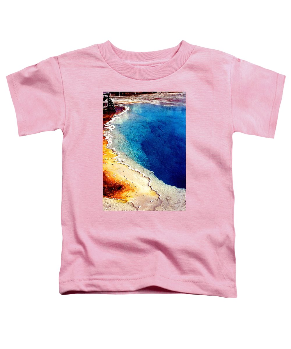 Geyser Toddler T-Shirt featuring the photograph Geyser Basin by Nancy Mueller
