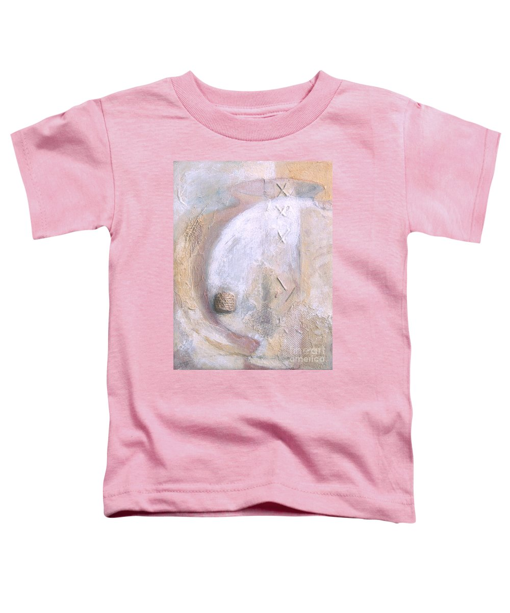 Collage Toddler T-Shirt featuring the painting Give And Receive by Kerryn Madsen-Pietsch